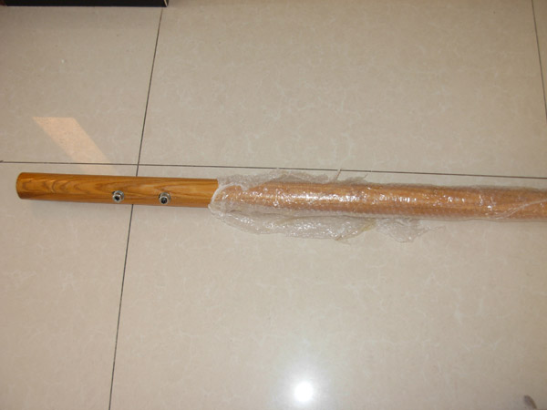 内蒙古包头市吕长春武术馆12米水曲柳舞蹈把杆发货通知